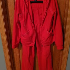 Red sweatsuit